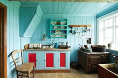 Early 20th century kitchen in an upper class Icelandic home.
