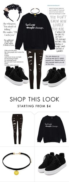 """Addicted to the way i feel"" by marina-hxpe ❤ liked on Polyvore featuring River Island, Forever 21 and Love Quotes Scarves"