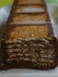 Recette - Gâteau au chocolat petits beurre/chocolat sans cuisson - Proposée par 750 grammes
