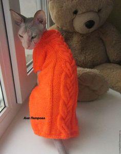 Одежда для кошек, ручной работы. Свитер для кошки/кота. Аня Петрова. Ярмарка Мастеров. Сфинкс, одежда для голых котов, для сфинксов