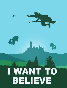 I WANT TO BELIEVE - Harry Potter Art Print