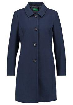 Manteaux en laine Benetton Manteau classique - dark blue bleu foncé: 90,00 € chez Zalando (au 16/09/15). Livraison et retours gratuits et service client gratuit au 0800 740 357.