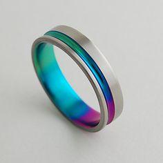 Titanium Ring Wedding Band Promise Ring Titanium by RomasBanaitis