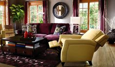 Mya by La-Z-Boy -- not so much the yellow recliners, but i like the plum and the deeper jewel tones.