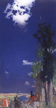 Oskar Zwintscher, Der Sommertag, 1896