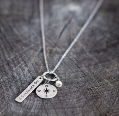 Adventure On Necklace | $26 | Compass - Our forgiven sin is as far from God as the east is distanced from the west www.mymaryandmartha.com/mholleyjones
