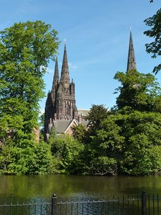 Lichfield Cathedral, Staffordshire, England.