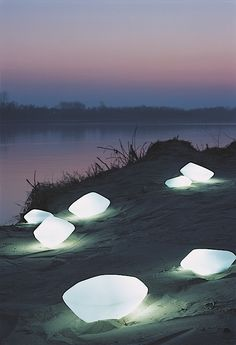 Outdoor Light Stones (by Oluce)
