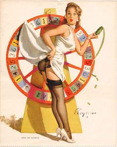 """A Turn for the Better"" by Gil Elvgren, 1962"
