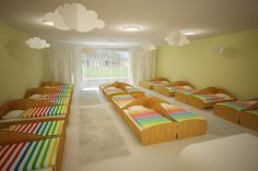 This is interior design of rainbow kindergarten