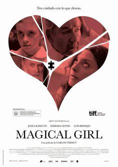 El próximo día 17 de Noviembre se estrena en los cines españoles Magical Girl,obra del director Carlos Vermut. Se trata esta vez de una película del género dramático protagonizada por actores jóvenes y otros ya consagrados como Luis Bermejo, José Sacristán,... .Tras su estreno podrás ver la película online en nuestro blog->