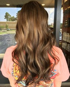 Golden natural balayage highlights