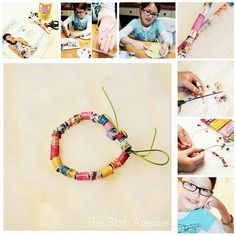 DIY Paper Beads... Such a fun activity for kids! #kids