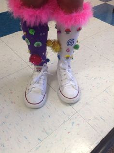 Silly sock day at school