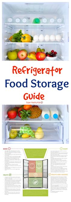 KITCHEN TIPS - Refrigerator Food Storage Guide. Get the most out of the food that you purchase and prepare for your family by knowing how to properly store your food in the refrigerator. http://www.superhealthykids.com/refrigerator-food-storage-guide/