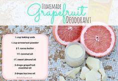 Homemade grapefruit Deodorant