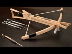 How to Make an Awesome Mini Toothpick CROSSBOW!  - YouTube