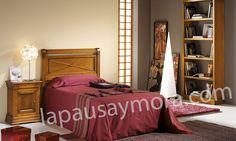Mueble de dormitorio de Lapausa y Mora, colección Decoro. Composición 07 con acabado en Cerezo envejecido (29).