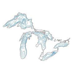 kinddesign - Great Lakes depth t-shirt design