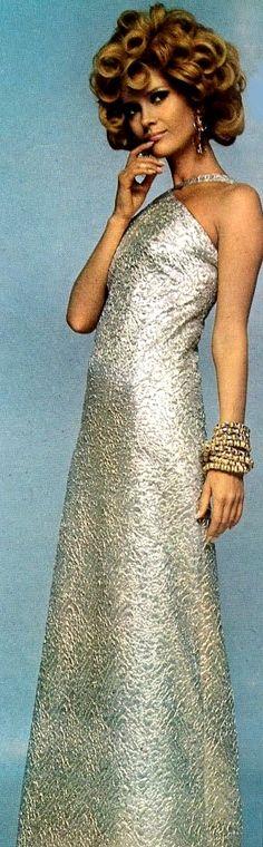 Long silver lurex dress Christian Dior, 1966
