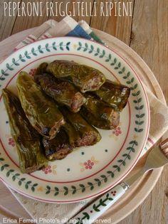 Peperoni friggitelli ripieni con carne - peppers stuffed with meat