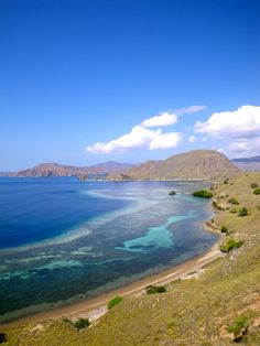 View of the Comodo Island, Indonesia