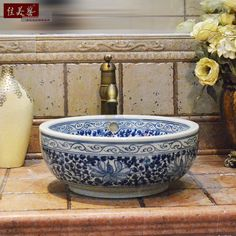 Aliexpress.com : Buy Blue and white wash basin sanitary ware ceramic bathroom wash basin counter basin double layer 020 from Reliable basin bath suppliers on Auergle Limited (8). | Alibaba Group