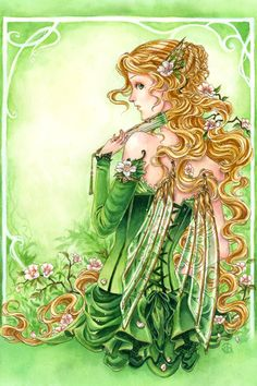 Lady In Green by Meredith Dillman | DecalGirl    Prints available at http://www.meredithdillman.com/catalog.php?item=478