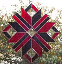 Stained+Glass+Suncatcher+Quilt+Star++Panel+++by+HillLillyDesigns,+$32.00