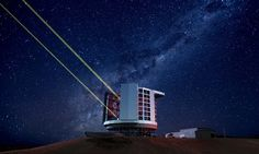 An artist illustration of the Giant Magellan Telescope, which will be built atop Las Campanas Peak in Chile.