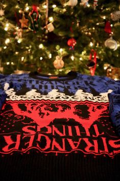 Stranger Things Ugly Holiday Sweater from BoxLunch Mind Flayer, Geek Chic Fashion, Ugly Holiday Sweater, Pizza Planet, Lilo And Stitch, Holiday Festival, Ravenclaw, Nightmare Before Christmas, Dragon Ball Z