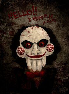 Saw Puppet Wallpaper Full Hd Saw Puppet, Jigsaw Movie, Jigsaw Saw, Michael Myers And Jason, Lets Play A Game, Movie Wallpapers, Iphone Wallpapers, Xenomorph, Merfolk