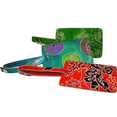 I found these luggage tags on Overstock! I love, what an excellent gift!