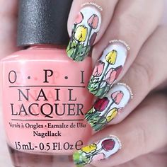And finally.. My nails for day 17 #glamnailschallengeapril TULIPS  Still need more practice on stamping technique let alone stamping decal. But I did it! Yayy!  Nail polishes used: @opi_products Got Myself Into A Jambalaya Alpine Snow Small  Cute =  @chinaglazeofficial Girls Just Wanna Have Sun Merry Berry Red Satin @maybelline @maybellineina Blueberry Ice Tenacious Teal Mint Mojito And Konad yellow regular polish  #nailartaddict #like4like #notd #nailoftheday #nailobsession #nails2inspire…