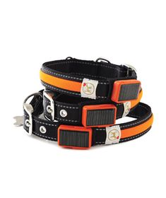 LED Light Solar & USB Rechargeable Collar to keep your dog visible for late-night walks