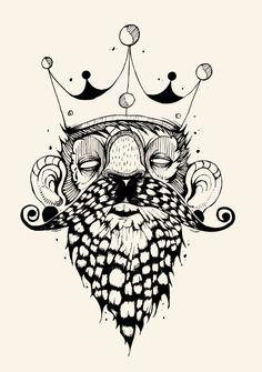 """King""  T-shirt Sérigraphie 20€ by Timothé.Claeys , via Behance"