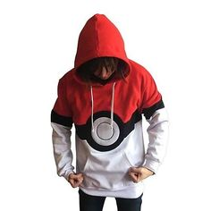 Anime-Pokemon-Ash-Satoshi-Hoodie-Pullover-mit-Kapuze-Pokeball-Pocket-Monsters