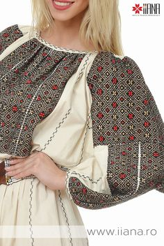 black red and white.love the details! Folk Embroidery, Modern Embroidery, Embroidery Designs, Folk Fashion, Ethnic Fashion, Bohemian Costume, Textile Patterns, Fun Patterns, Folk Costume