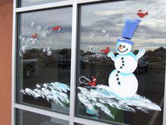 Window Splashes From The Window Painting Pro: Holiday Window Splashes
