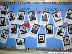 I love this bulletin board. MLK Activity.