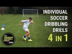 Soccer Dribbling Moves - 4 in 1 soccer practice - My Personal Footbal.Individual Soccer Dribbling Moves - 4 in 1 soccer practice - My Personal Footbal. Soccer Dribbling Drills, Soccer Training Drills, Goalkeeper Training, Soccer Drills For Kids, Soccer Pro, Soccer Workouts, Football Drills, Soccer Skills, Soccer Coaching