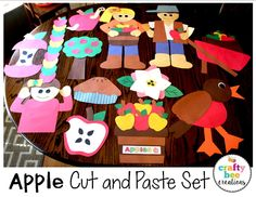 Apple Cut and Paste Set that included patterns and directions to make all of these fun crafts. Perfect for the fall months!
