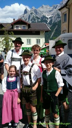 #Bavarian family in #Mittenwald with traditional costumes/ 22.June2014 - from previous pinner