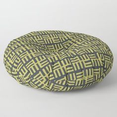 Tribal Afro Modern Symbols Floor Pillow