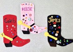 Rodeo Crafts, Cowboy Boot Crafts, Texas Crafts, Farm Crafts, Vbs Crafts, Daycare Crafts, Camping Crafts, Preschool Crafts, Cowboy Art