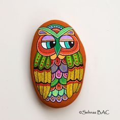 Hey, I found this really awesome Etsy listing at https://www.etsy.com/listing/205779500/hand-painted-stone-owl