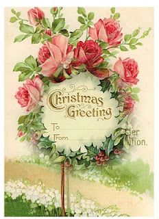 strange to have Christmas greetings with no snow. Vintage Christmas Images, Victorian Christmas, Pink Christmas, Christmas Greetings, Christmas Holidays, Christmas Crafts, Christmas Decorations, Xmas, Christmas Design