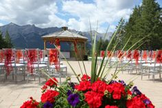The gazebo at Silvertip Resort is an incredible wedding location in the Canadian Rockies