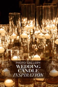 There's something about a candle that radiates romance. Check out our Wedding Candles gallery of over 150 stunning wedding decor photos! http://www.colincowieweddings.com/the-galleries/wedding-lighting/candles