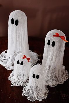 ghost made with cheesecloth ...awesome!